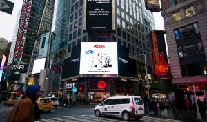 能力风暴亮相纽约时代广场,加速发力国际市场